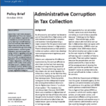 Policy Brief: Administrative Corruption in Tax Collection