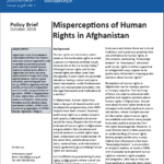 Policy Brief: Misperceptions of Human Rights in Afghanistan