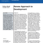 Policy Brief: Renew Approach to Development