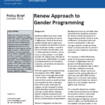 Policy Brief: Renew Approach to Gender Programming