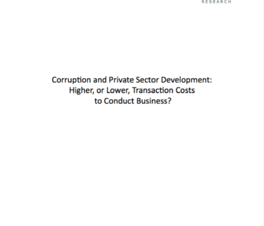 Corruption and Private Sector Development Featured Image