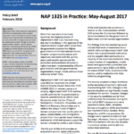 NAP 1325 in Practice: May-August 2017