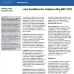 Local Conditions for Implementing NAP 1325
