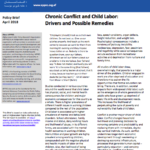 Chronic Conflict and Child Labor: Drivers and Possible Remedies