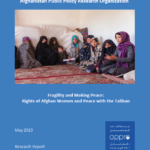 Fragility and Making Peace:  Rights of Afghan Women and Peace with the Taliban