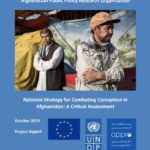 National Strategy for Combating Corruption in Afghanistan: A Critical Assessment