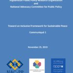 Toward an Inclusive Framework for Sustainable Peace – Communiqué 1