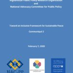 Toward an Inclusive Framework for Sustainable Peace Communiqué 2