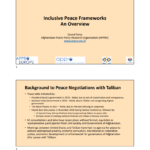 Slides- Virtual Open Forum: Toward an Inclusive Framework for Sustainable Peace