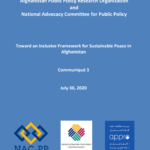 Toward an Inclusive Framework for Sustainable Peace in Afghanistan Communiqué 3