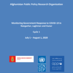 Monitoring Government Response to COVID-19 in Nangarhar, Laghman and Kunar – Cycle 1