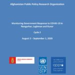 Monitoring Government Response to COVID-19 in Nangarhar, Laghman and Kunar – Cycle 2