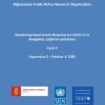 Monitoring Government Response to COVID-19 in Nangarhar, Laghman and Kunar – Cycle 3