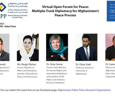 Launching Multi-track Diplomacy for Afghanistan's Peace Process